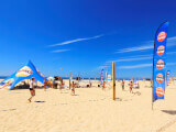 Beachflaggor & tält i Portugal